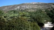 HD RL pan over mountain range in Verdon video
