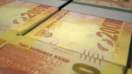 Pan Over South African Rand Wads video