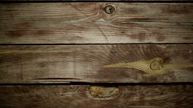 Pan over wood texture video