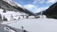Pan: St. Sigismund im Sellrain, Tyrol, Austria, in winter video