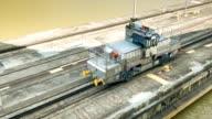 Panama Canal Locomotive Close-up Guiding Ship Through Locks video