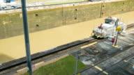 Panama Canal Locomotive Train Going Back to Start of Locks video