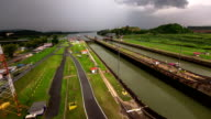 Panama Canal Time Lapse Pan video