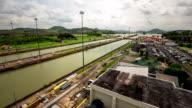 Panama Canal Time Lapse Pan video
