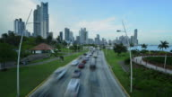 Panama cityscape time lapse video