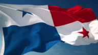 4K Panama Flag - Loopable video