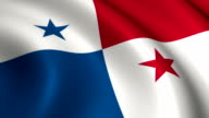 Panama Flag Loopable video