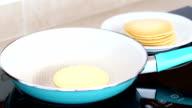 Pancake on frying pan video