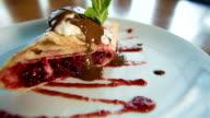 pancake with chocolate and ice cream video