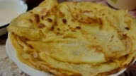pancakes delicious on a plate slow motion video video