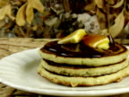 Pancakes Dripping Maple Syrup (NTSC) video