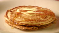 Pancakes with Butter and Honey Dripping video