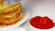 Pancakes With Caviar video