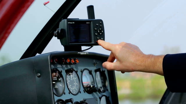 Panel control of the helicopter. video