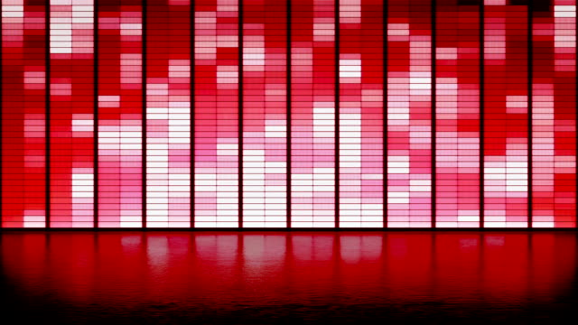 LED panel wall background. club dance stage video