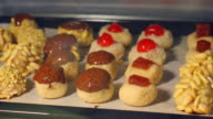 Panellets and chestnuts in the oven 4K video