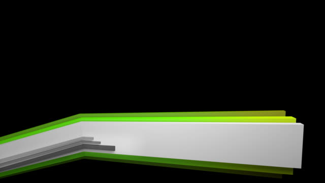 3D Panels Lower Third - Rainbow Change (Full HD) video