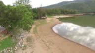 Paning aerial view of  lake video
