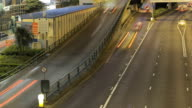 Panning across a busy freeway in Hong Kong video
