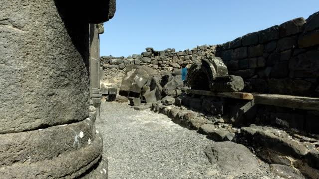 Panning Around Base of Ancient Black Column video