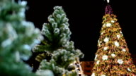 panning: big decorated Christmas tree video