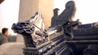 panning: Dargon statue on Shrine roof in the temple of heaven video
