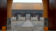 panning: entrance of tombs from the Ming Dynasty under air pollution video