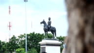 HD Panning: Equestrian Statue of King Rama the fifth. video