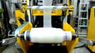 panning: fabricate blown film  by extruder machine video