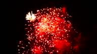 HD panning: Fireworks celebration day video