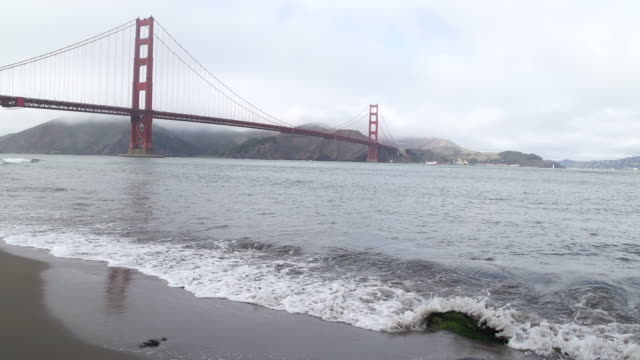 Panning Left to Golden Gate Bridge video