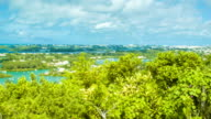 Panning Over Bermuda with Tropical Colors video