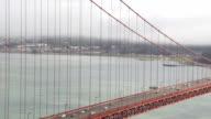 Panning Over Traffic on Golden Gate Bridge video