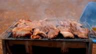 panning: roasted porks with alcoholic drinks video