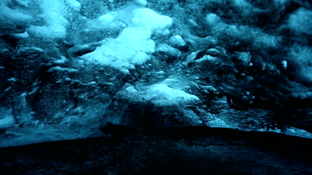 HD panning shot: Ice Cave at vatnajokull Glacier jokulsaron Iceland video