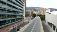 Panning shot Monaco Grand Prix bridge video
