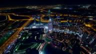 Panning shot of Dubai at night video