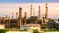 Panning shot of Oil Refinery ,Day to Night video
