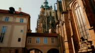 Panning Shot of St Vitus Cathedral on a Sunny Day video