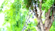 HD Panning: small lamp that hung on wires. video