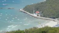 panning: speed boats are on Ko Larn Island, Chonburi video