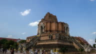 Panning Time Lapse of Chedi Luang Temple in Chiang Mai Thailand video