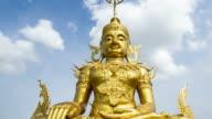 Panning Time Lapse of Golden Buddha Image video