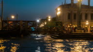 Panning Time Lapse of river traffic at Grand Canal, Venice video