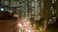 Panning Timelapse - Manhattan Street &  Skyscrapers video