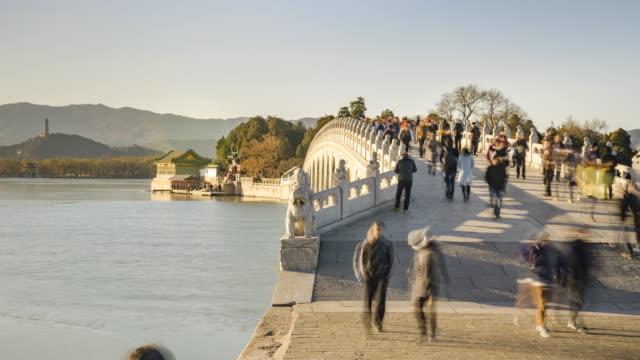 panning TL:on 17-Arch Bridge at sunset video