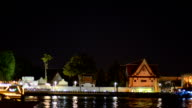 Panning: Travelling in river and on Wat Arun video