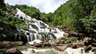HD Panning: Tropical Waterfall in Forest video