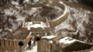 Panning Up Revealing Great Wall of China video