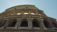 Panning video  of the Coliseum of Rome video